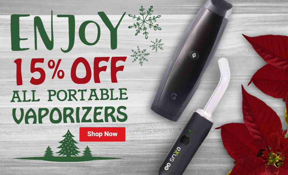 Enjoy 15% Off All Portable Vaporizers