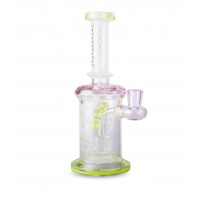 """9"""" Banger Hanger w/ Etched Work and Honey Comb Perc"""