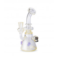 """8"""" Banger Hanger w/ Clear and CFL Color and Skull Marbles"""