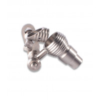 Male Titianium 14/18mm Bucket Domeless Nail by Wulf Mods