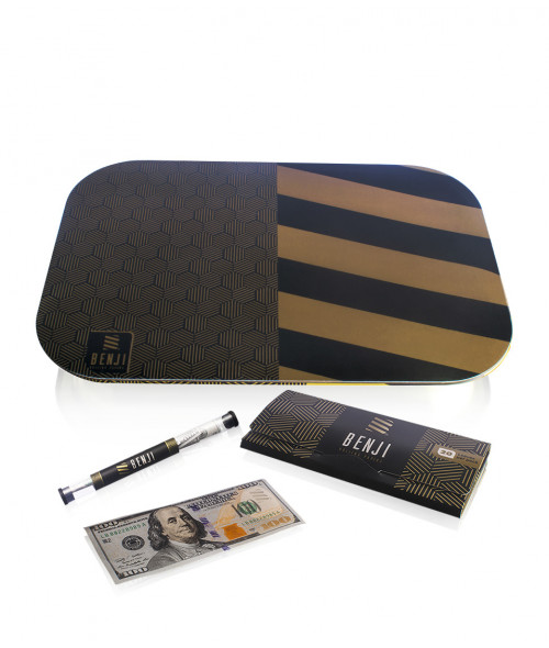 Benji OG Rolling Paper and Tray with Magnetic Lid Bundle
