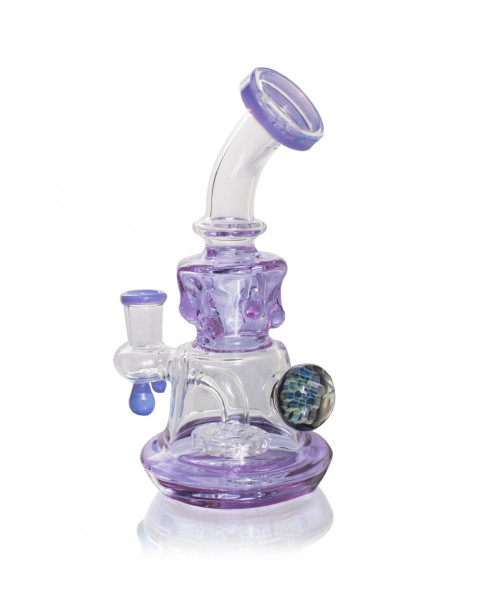 "8"" Purple Banger Hanger with Slime Body and Shower Head Perc"
