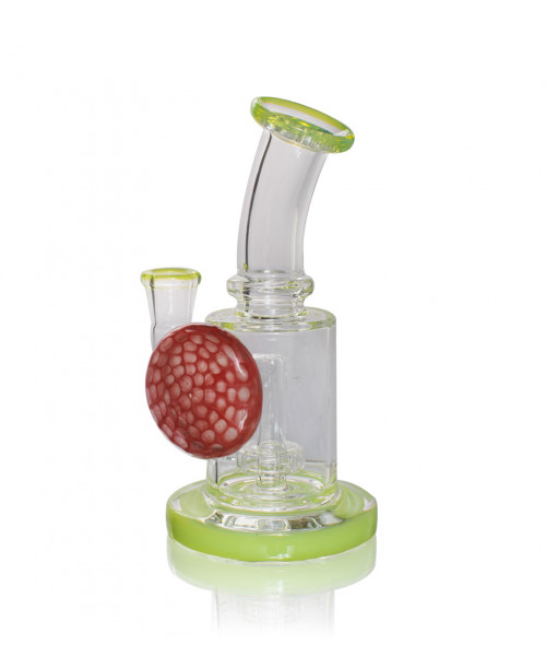 "7"" Slime Banger Hanger with Red Marble and Shower Head Perc"