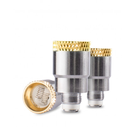 Quartz Dual Coil Dome Atomizer 3 pk by Wulf Mods