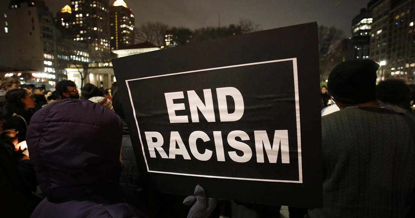 End Racism Sign at protest