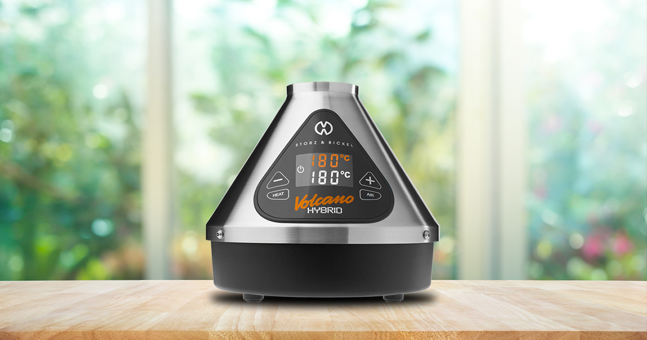 Volcano desktop Vaporizer on table