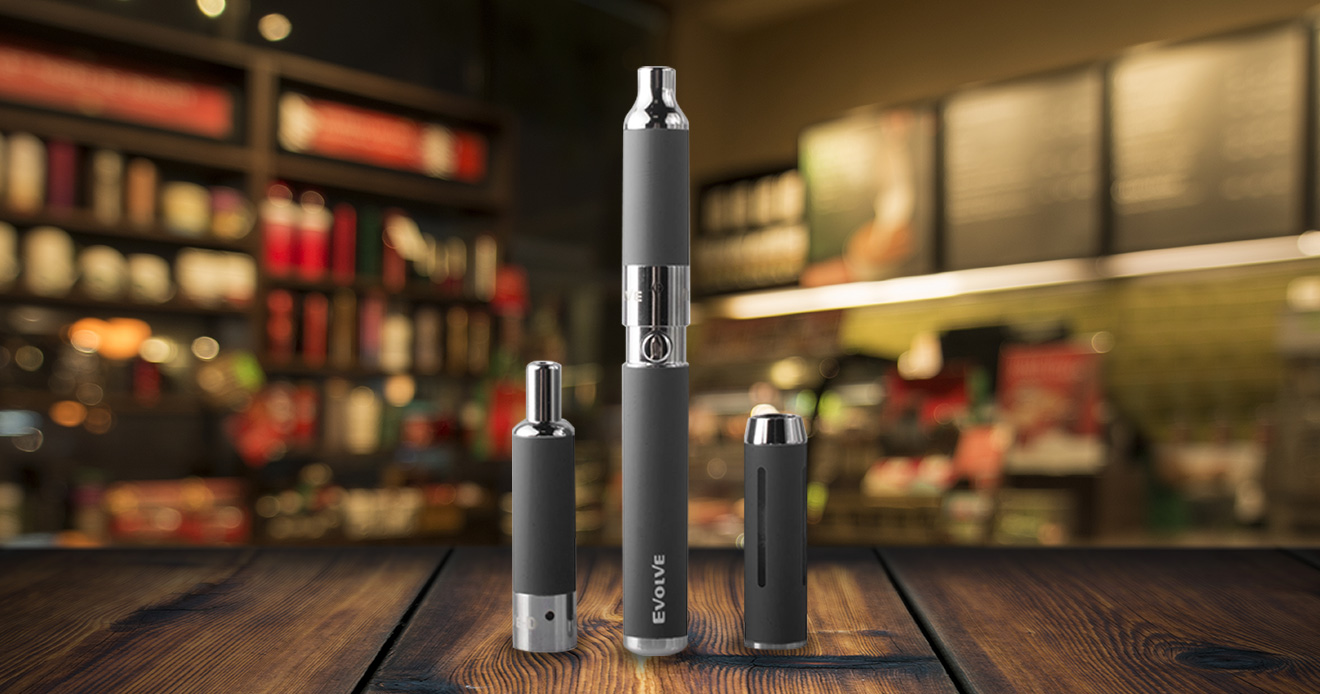 Yocan 3 in 1 Kit standing on table