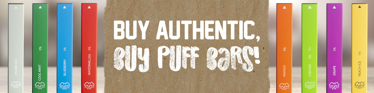Puff Bar Buy Authentic Banner