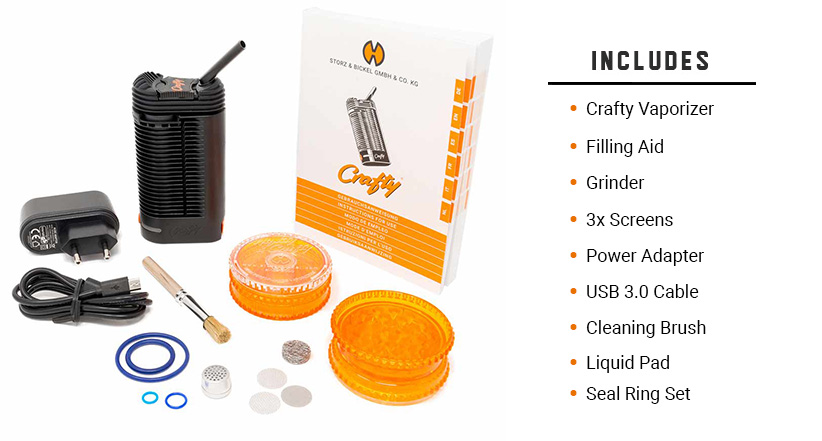Crafty Vaporizer includes