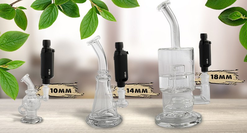 VRS Glass Adapter with different sizes on glass rigs