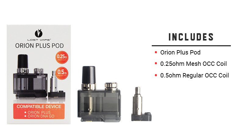 Orion Plus Pod Includes