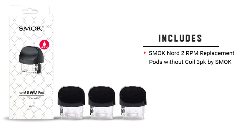 SMOK Nord 2 RPM Replacement Pods without Coil 3pk included
