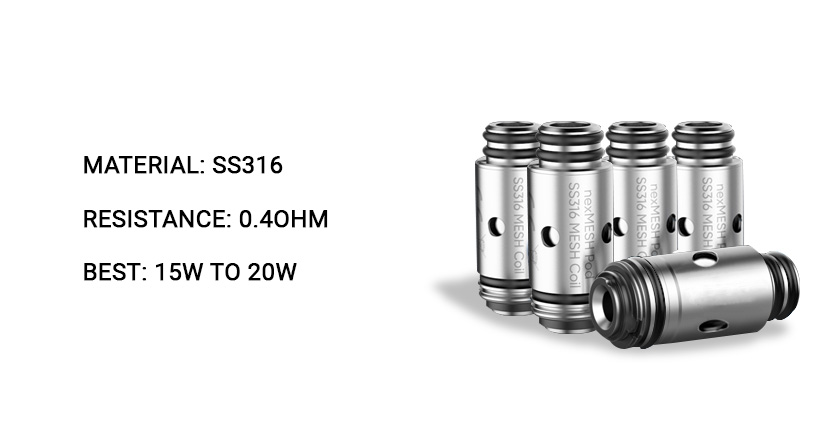 SMOK nexMESH Replacement Coils SS316 Coil