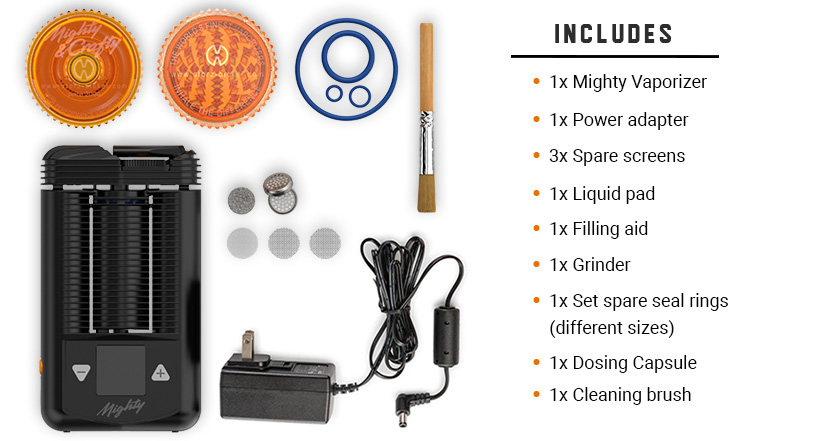 Mighty Vaporizer Includes
