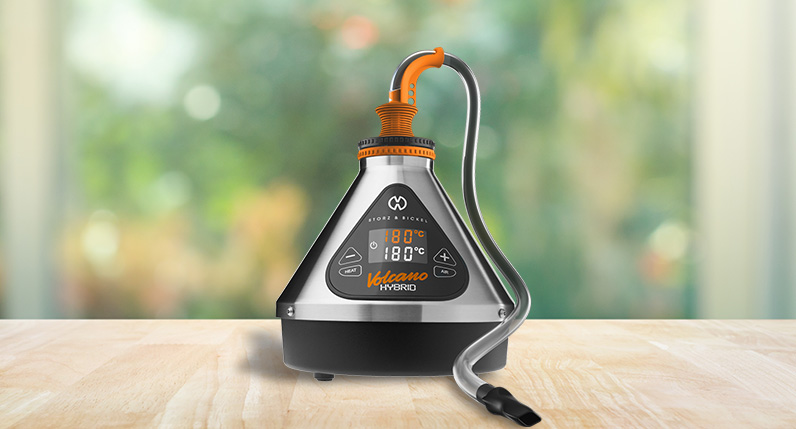 Hybrid Volcano Standing on table with tube attachment