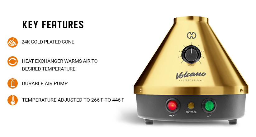 Classic Volcano Gold Edition Key features