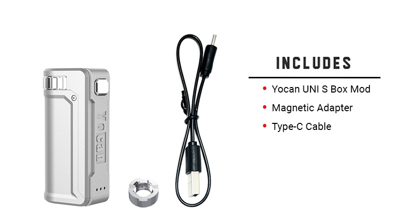 Yocan UNI S Includes